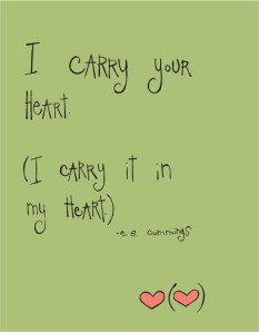 I caarry your heart